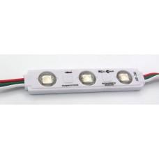 RGB модуль адресный 15х75мм 12В 3 пикселя 5050 + ws2811 герметичный IP67, с самоклейкой