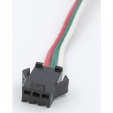 """разъем """"мама"""" с 3 проводами 12см для адресных лент и модулей на ws2811/2812"""