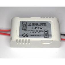 Драйвер для светодиодов 3х3Вт (220В->8-12В 600мА) в корпусе