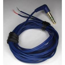 Кабель для наушников Sony с угловым штеккером синий